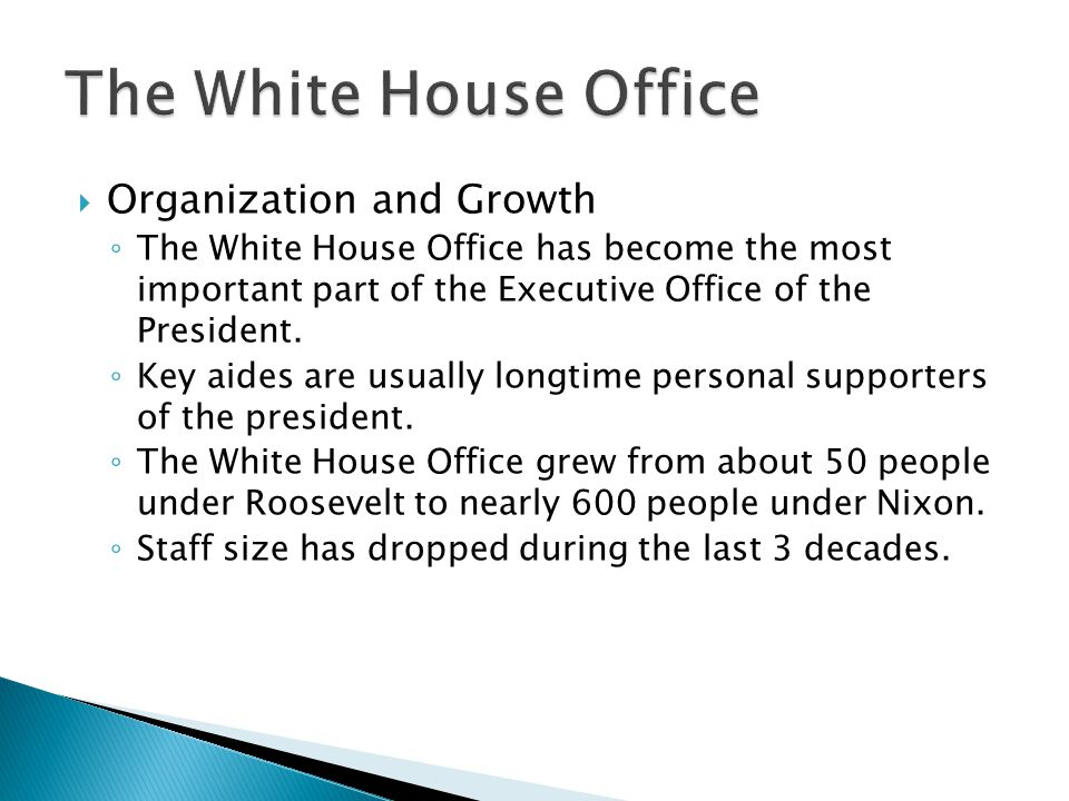 The White House Office Organization and Growth