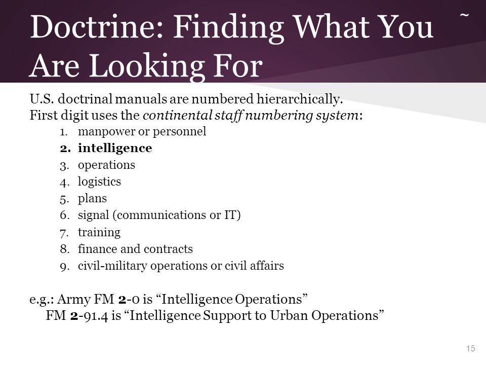 Army Operations Doctrine