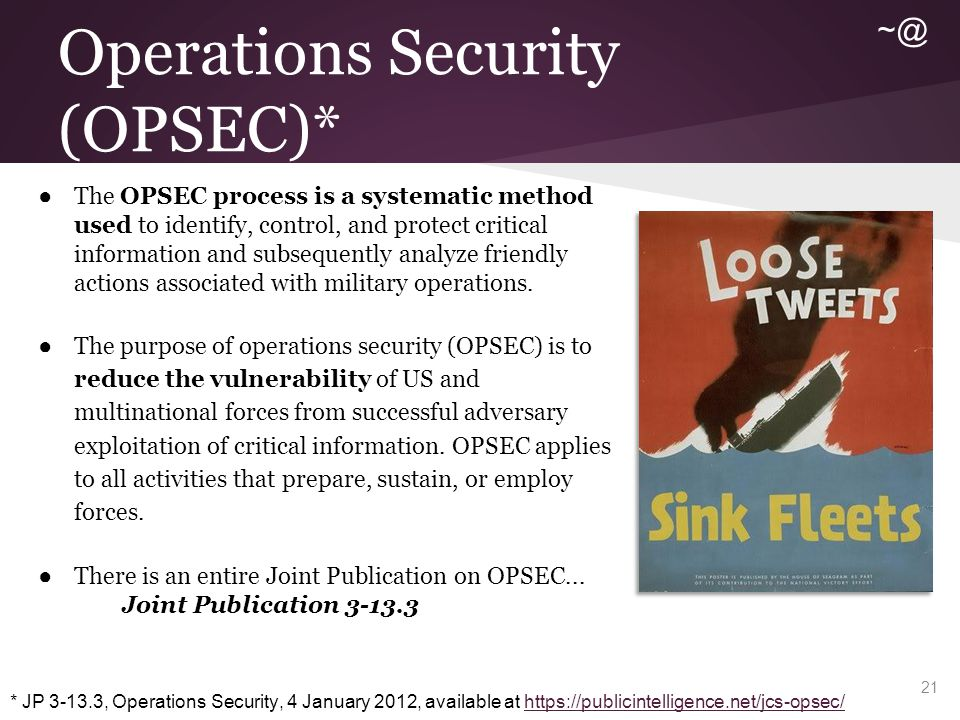 So How Can Good OPSEC Help Me