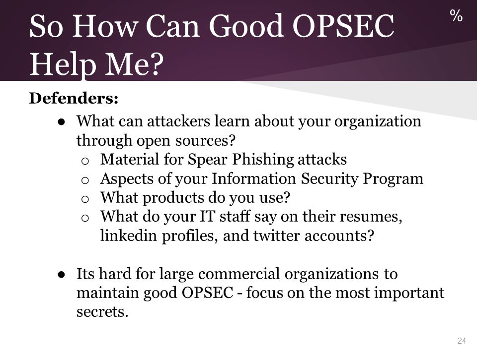 The OPSEC Process from JP3-13.3