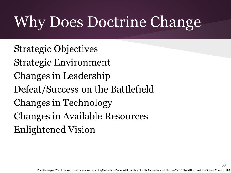 Indicators of Doctrinal Change