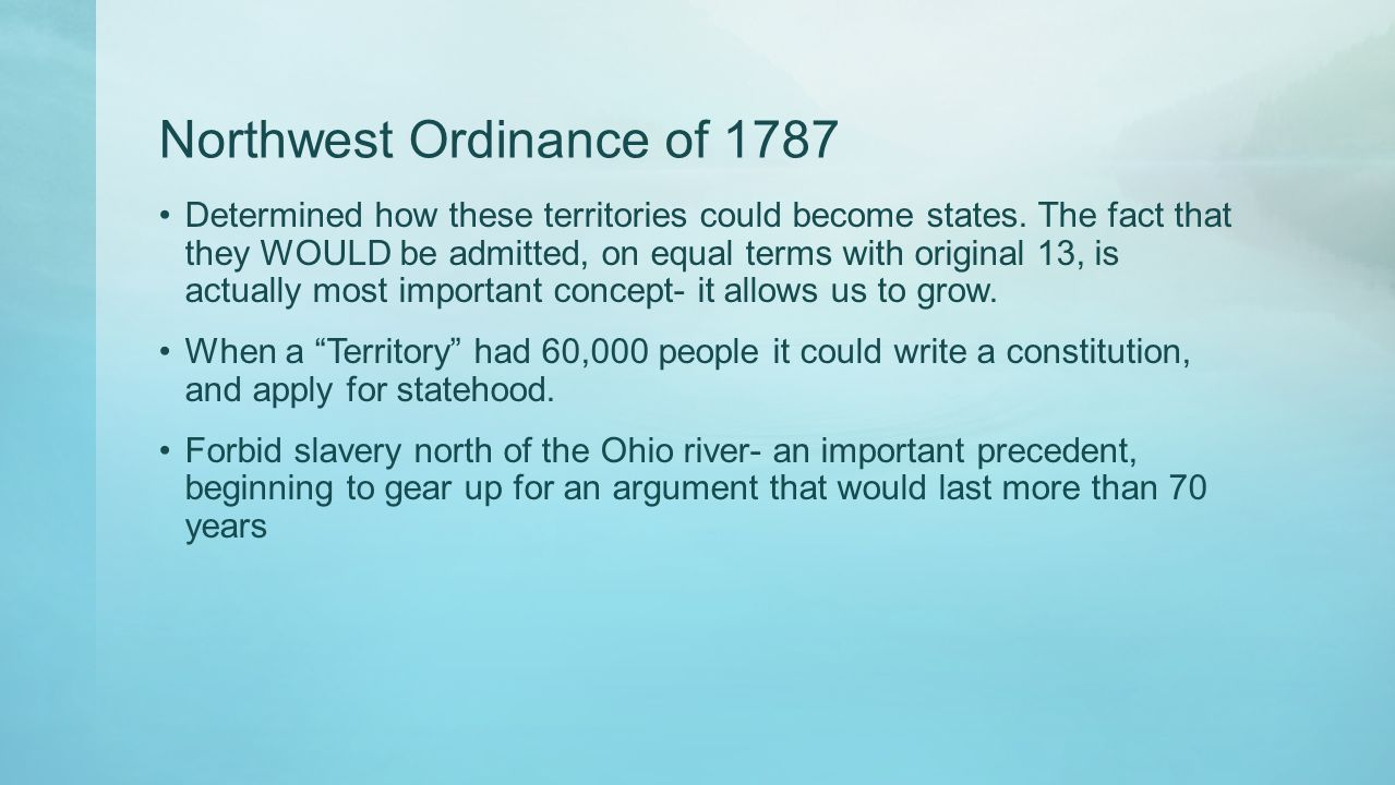 Northwest Ordinance of 1787