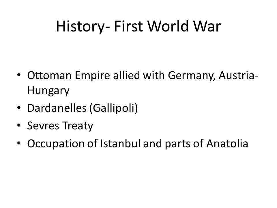 History- First World War