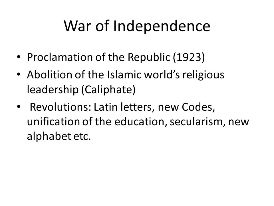 War of Independence Proclamation of the Republic (1923)