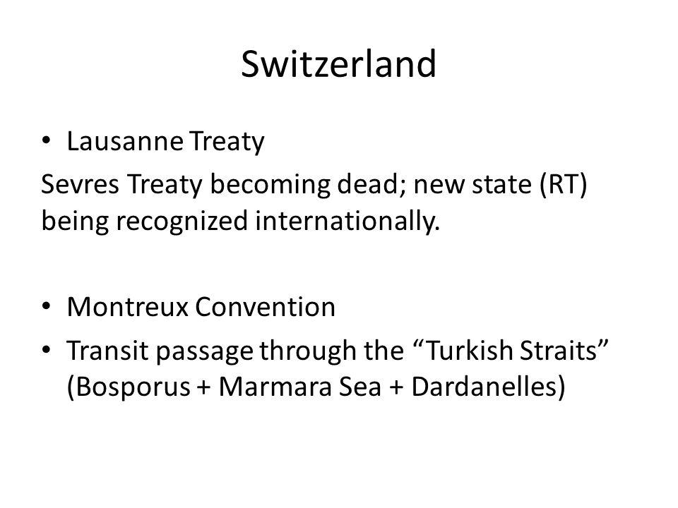 Switzerland Lausanne Treaty