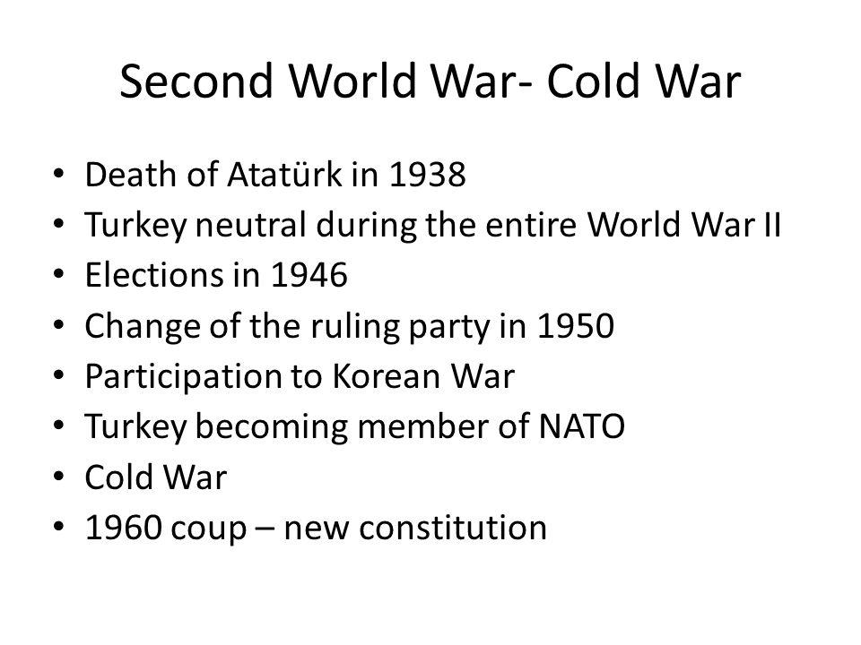 Second World War- Cold War