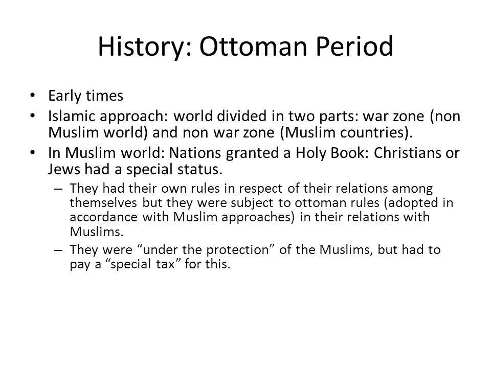 History: Ottoman Period