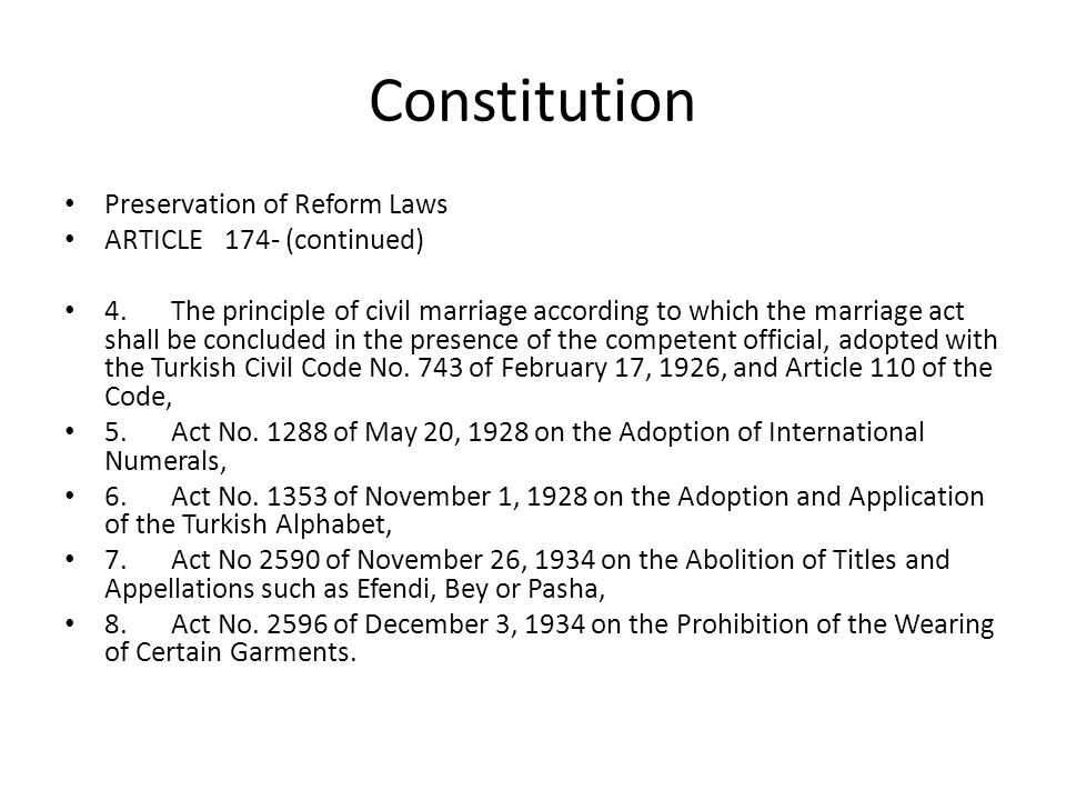 Constitution Preservation of Reform Laws ARTICLE 174- (continued)