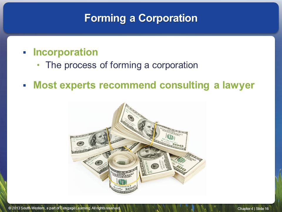 Forming a Corporation Incorporation
