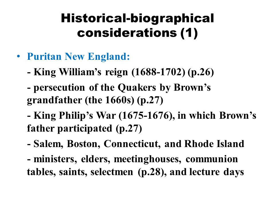 Historical-biographical considerations (1)
