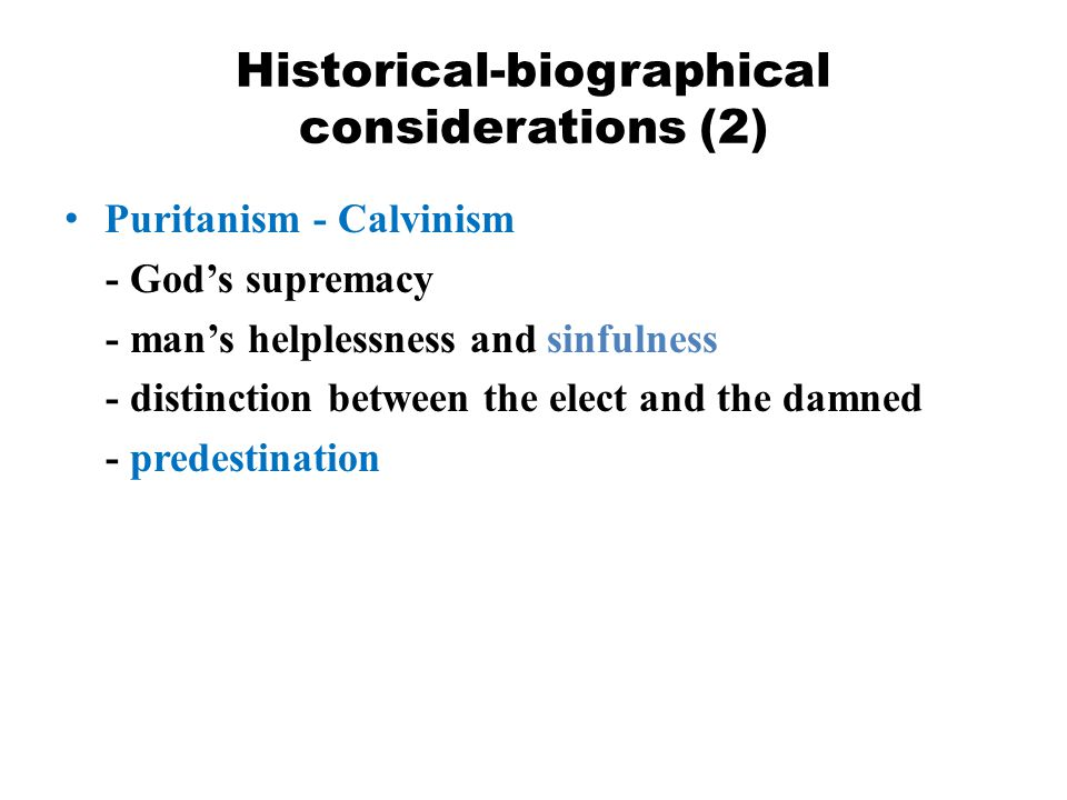Historical-biographical considerations (2)