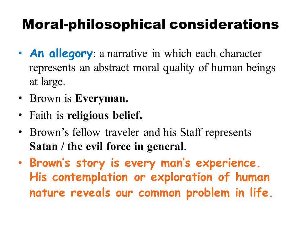 Moral-philosophical considerations