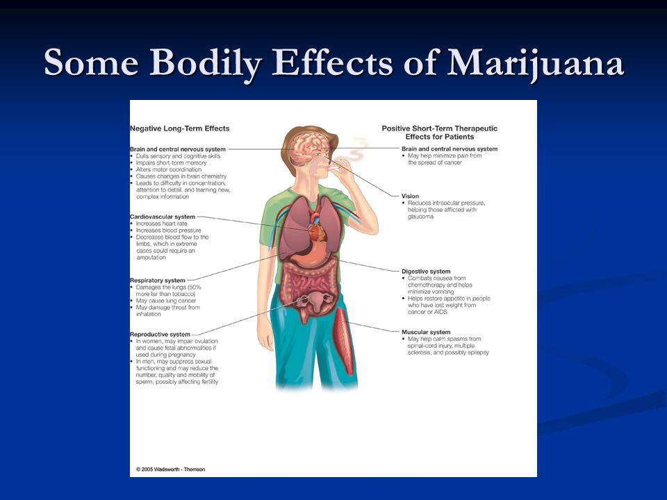 Some Bodily Effects of Marijuana