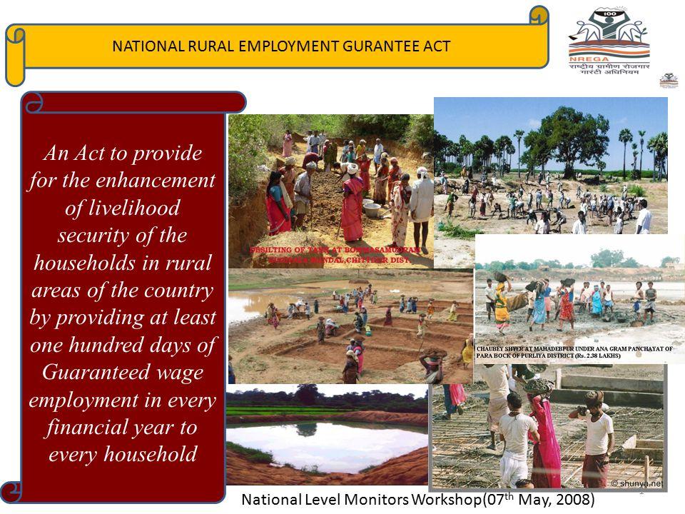 NATIONAL RURAL EMPLOYMENT GURANTEE ACT