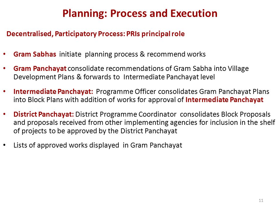 Planning: Process and Execution
