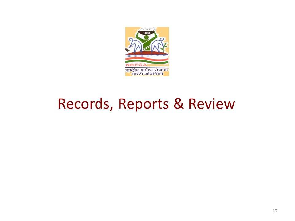 Records, Reports & Review