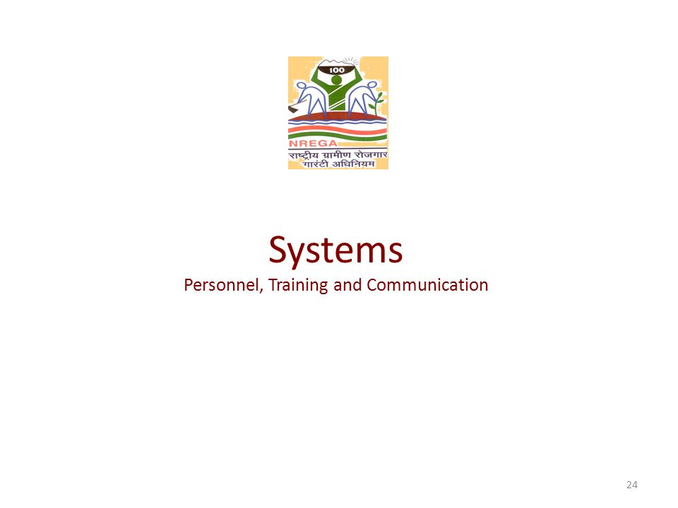 Systems Personnel, Training and Communication