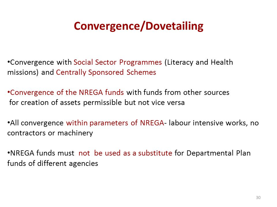 Convergence/Dovetailing