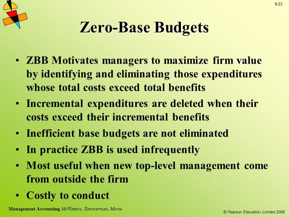 Zero-Base Budgets