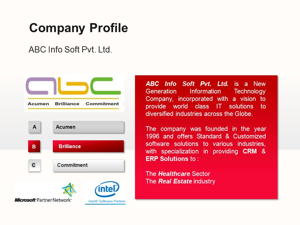 Company Profile ABC Info Soft Pvt. Ltd.