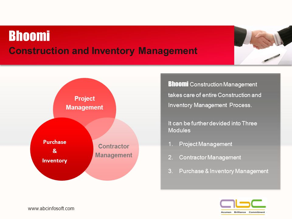 Bhoomi Construction and Inventory Management