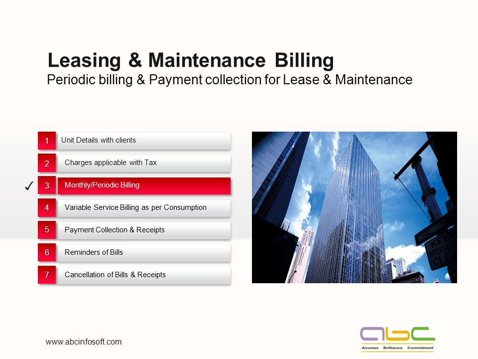 Leasing & Maintenance Billing