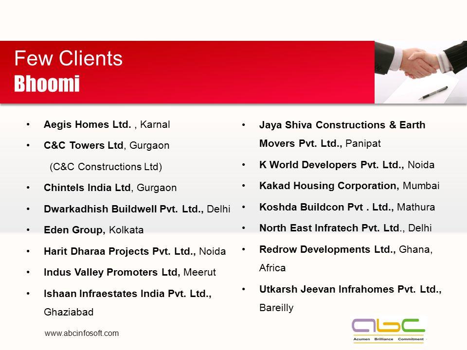 Few Clients Bhoomi Aegis Homes Ltd. , Karnal