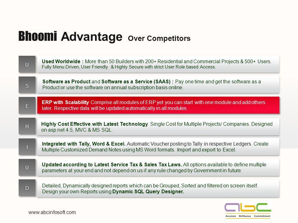 Bhoomi Advantage Over Competitors
