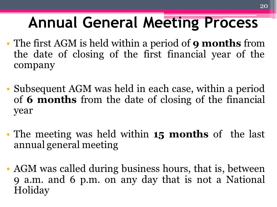 Annual General Meeting Process