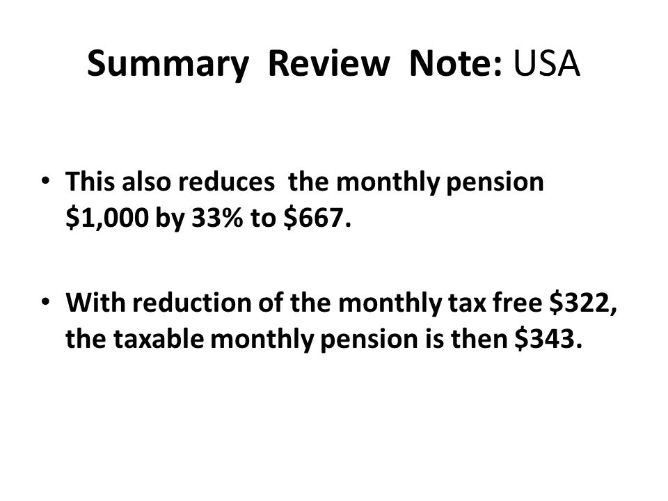 Summary Review Note: USA