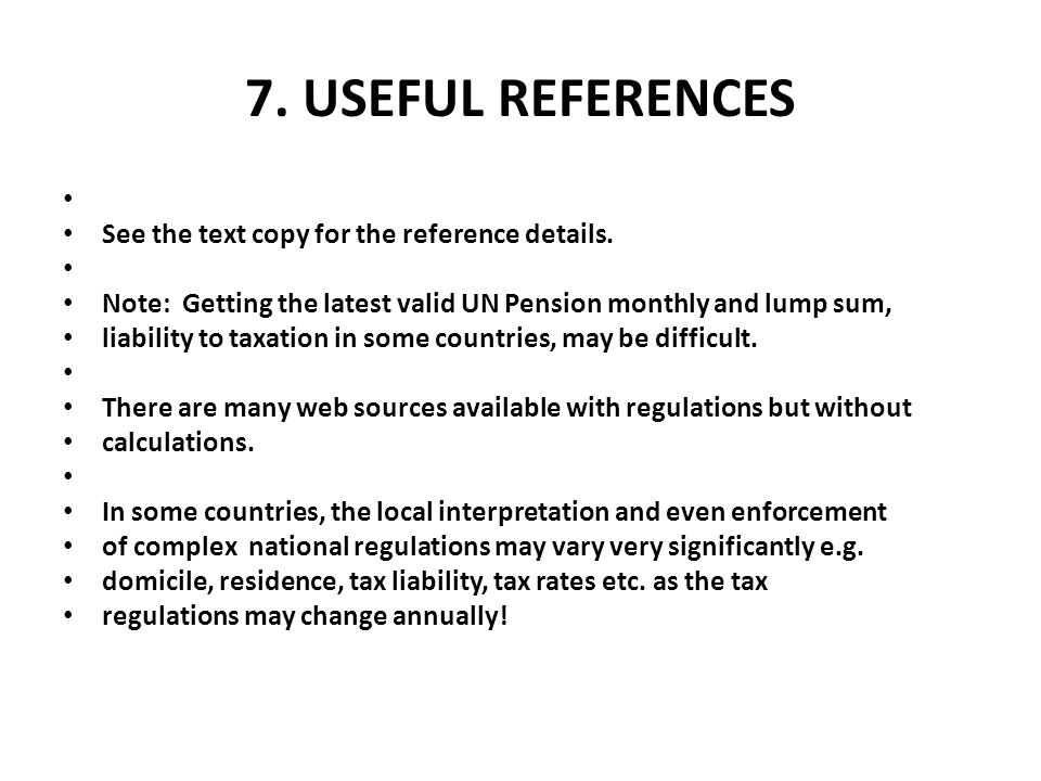 7. Useful References See the text copy for the reference details.
