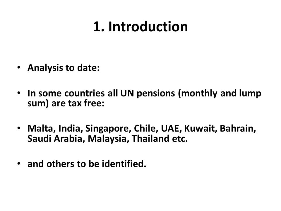 1. Introduction Analysis to date: