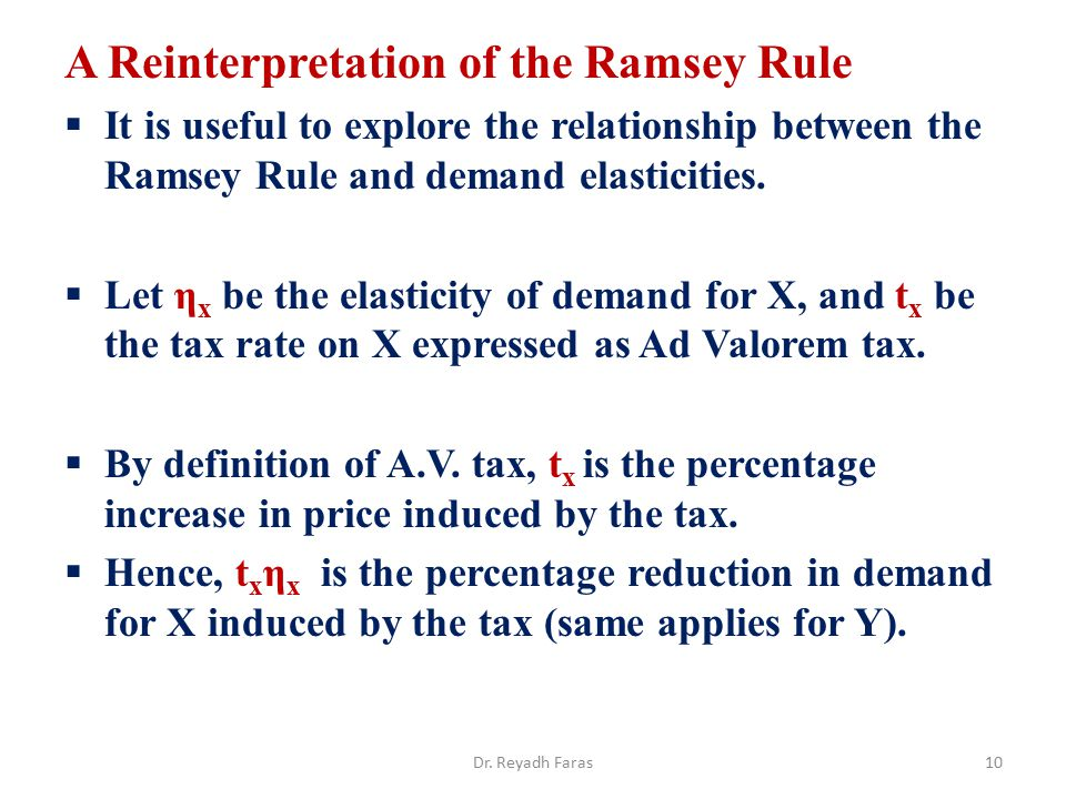 A Reinterpretation of the Ramsey Rule