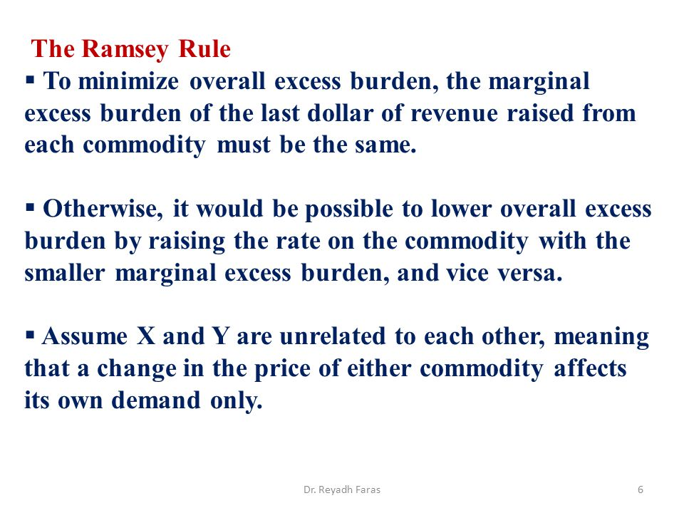 The Ramsey Rule