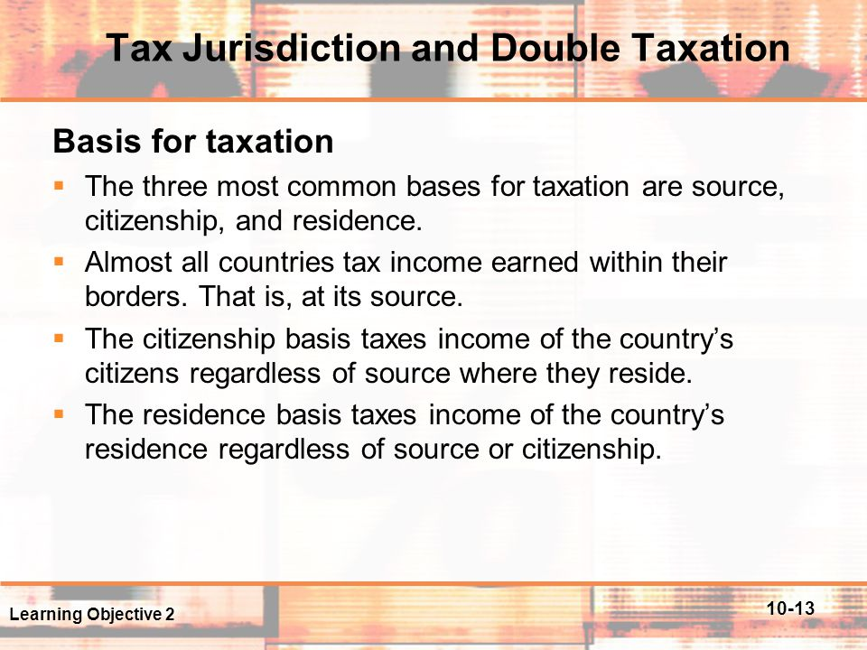 Tax Jurisdiction and Double Taxation
