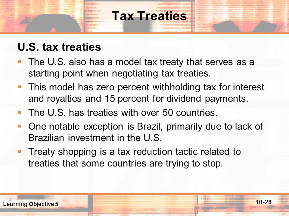 Tax Treaties U.S. tax treaties