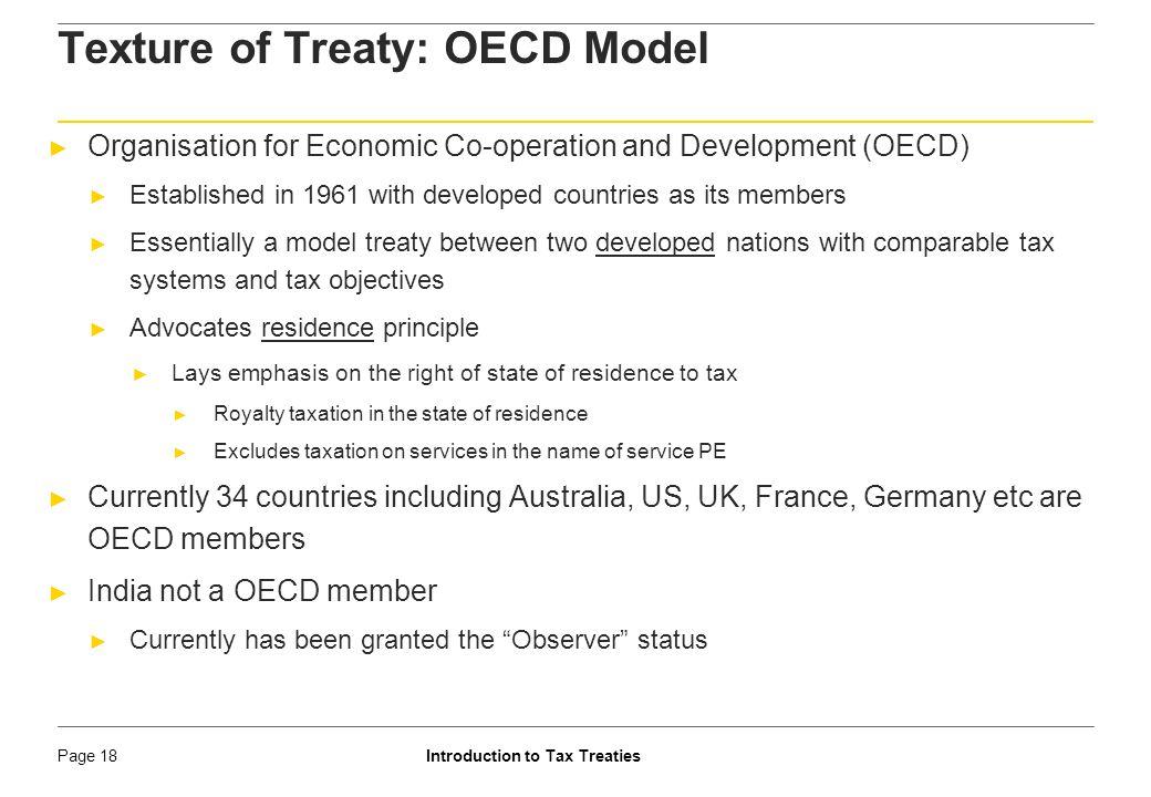 Texture of Treaty: OECD Model