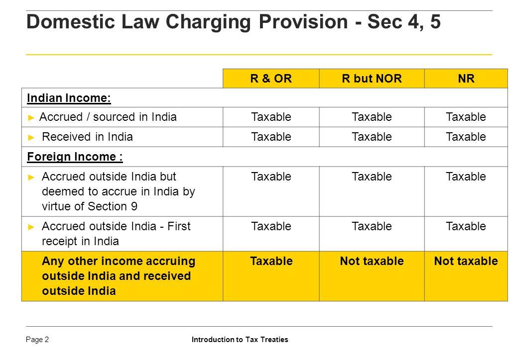 Domestic Law Charging Provision - Sec 4, 5