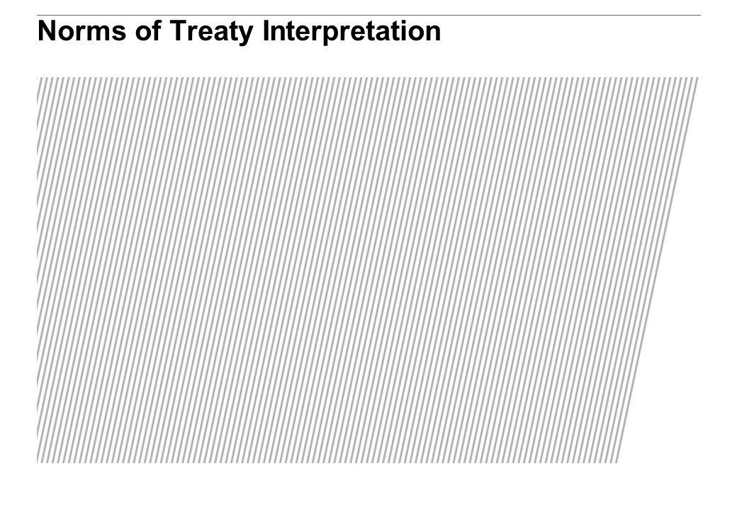 Norms of Treaty Interpretation