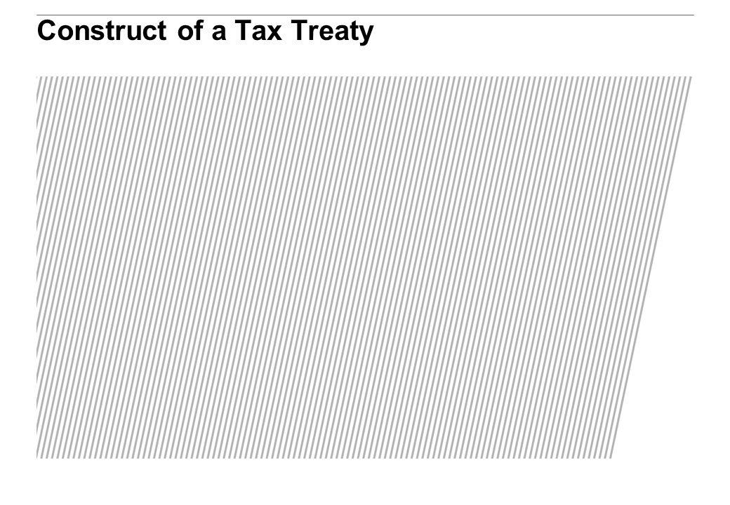 Construct of a Tax Treaty