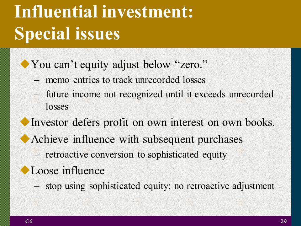 Influential investment: Special issues
