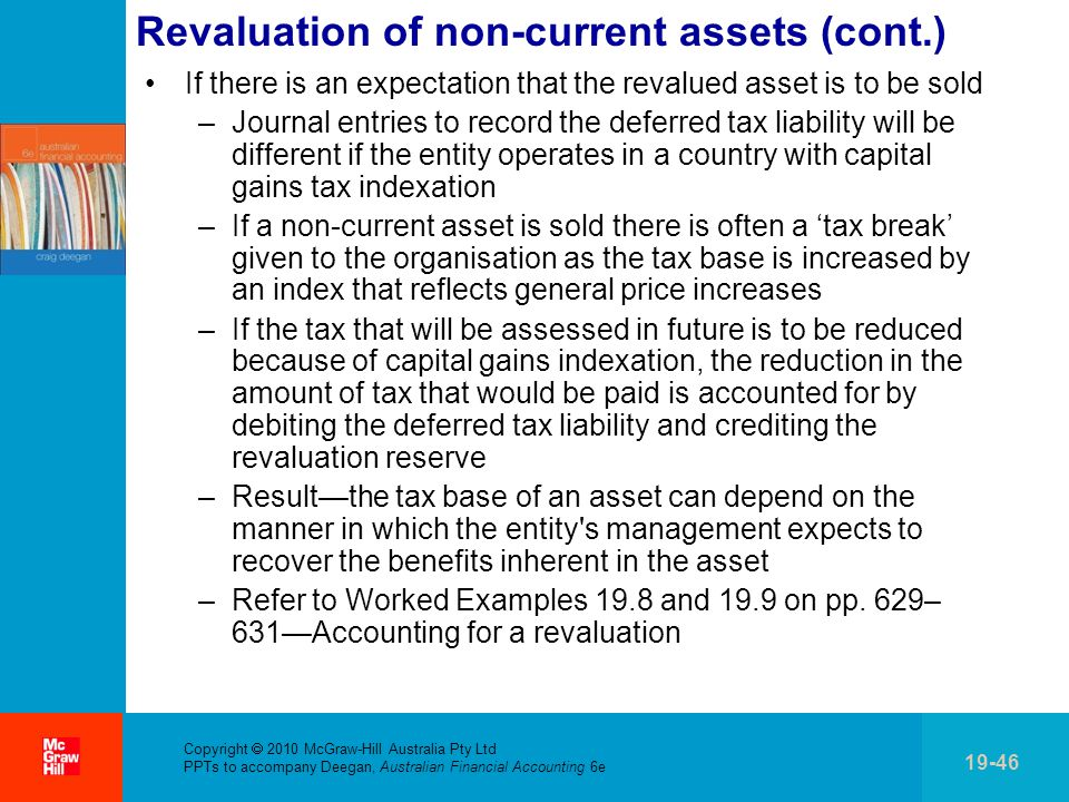Revaluation of non-current assets (cont.)