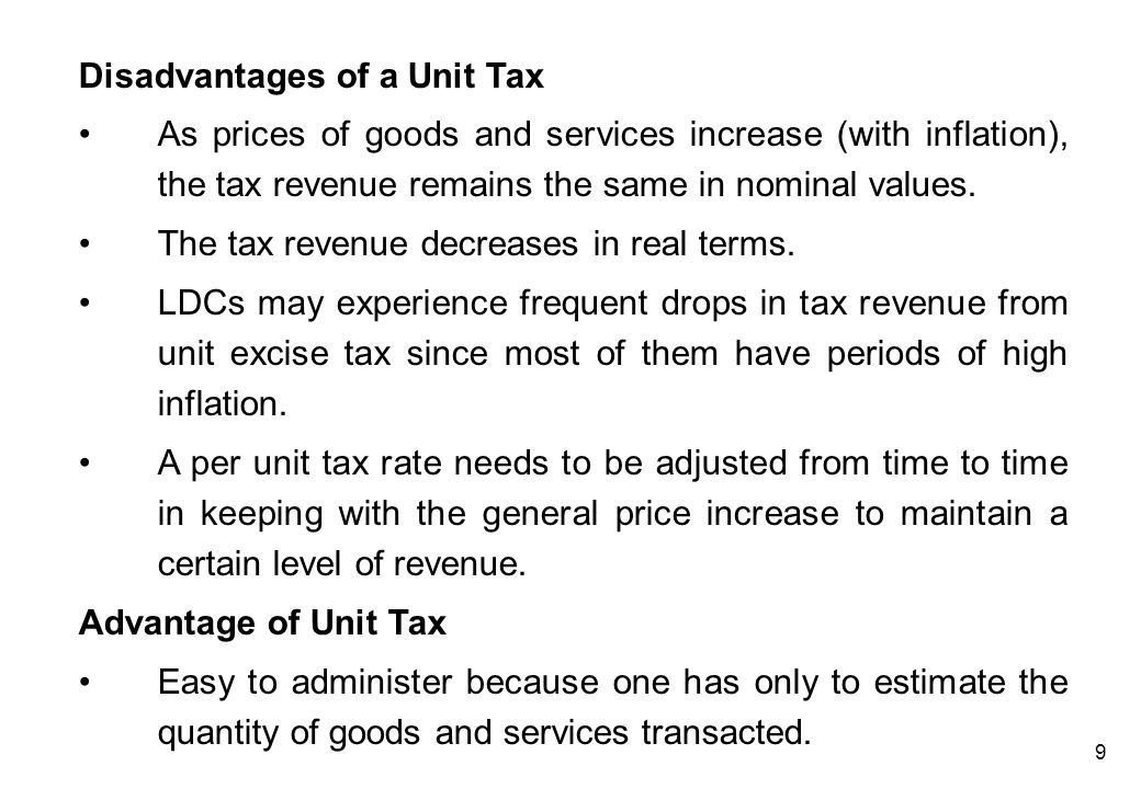 Indexation of Unit Excise Tax