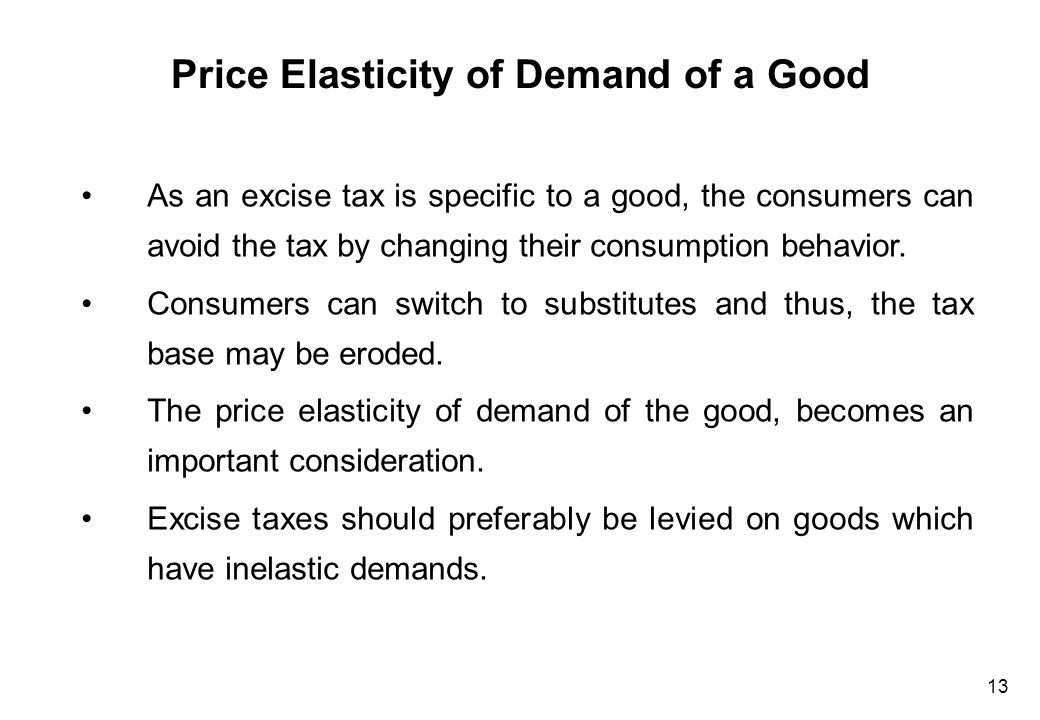 Elasticity of Demand Inelastic Demand Elastic Demand T1 T1 Q1 Q0 Price