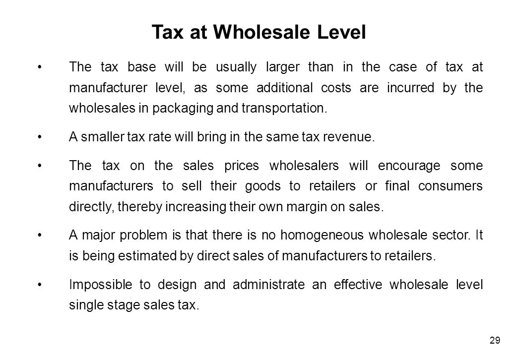 Retail Sales Tax Advantage