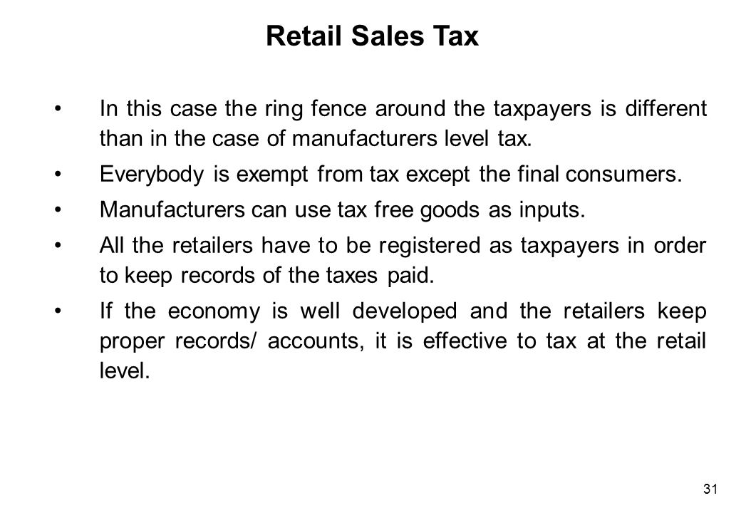 Retail Sales Tax Large retailers need to have a good sales recording system in order to prevent their employees from stealing.