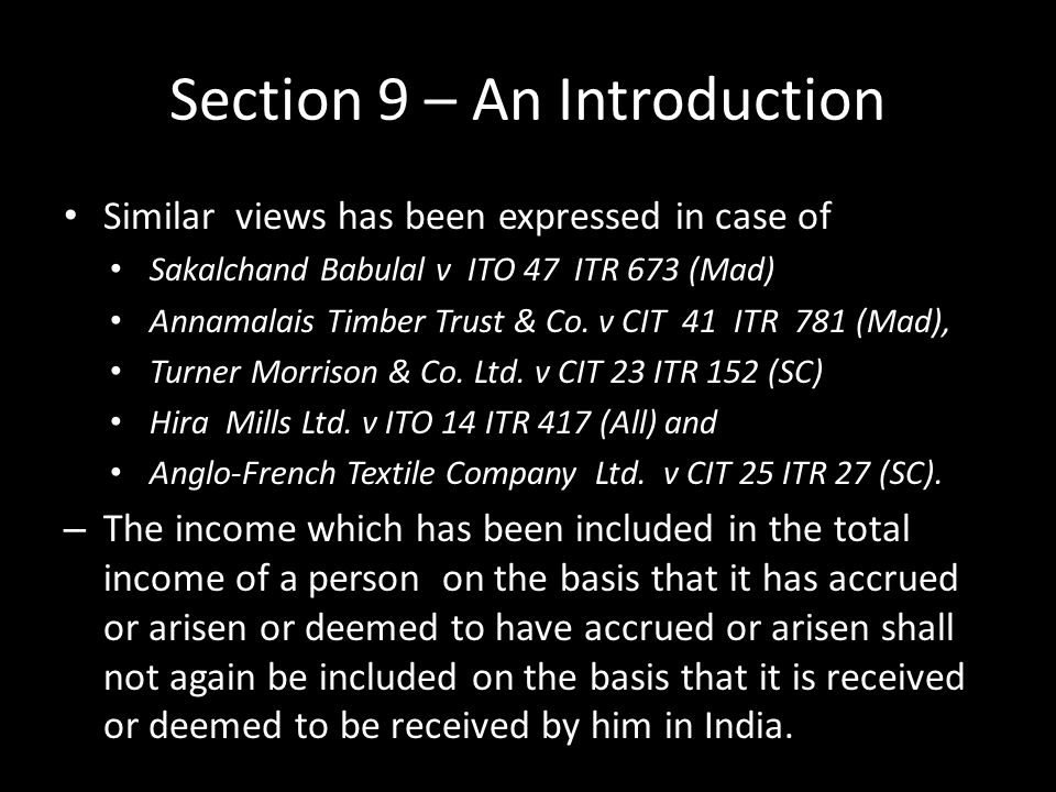 Section 9 – An Introduction