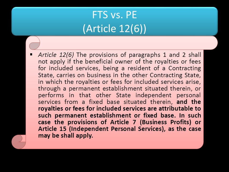 FTS vs. PE (Article 12(6))