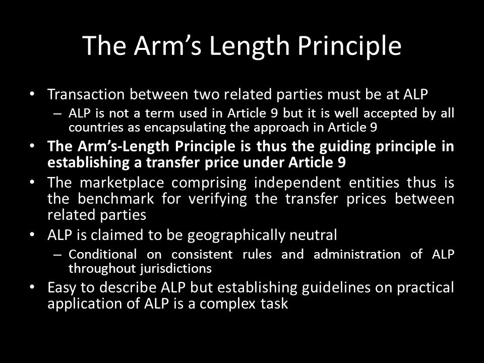 The Arm's Length Principle