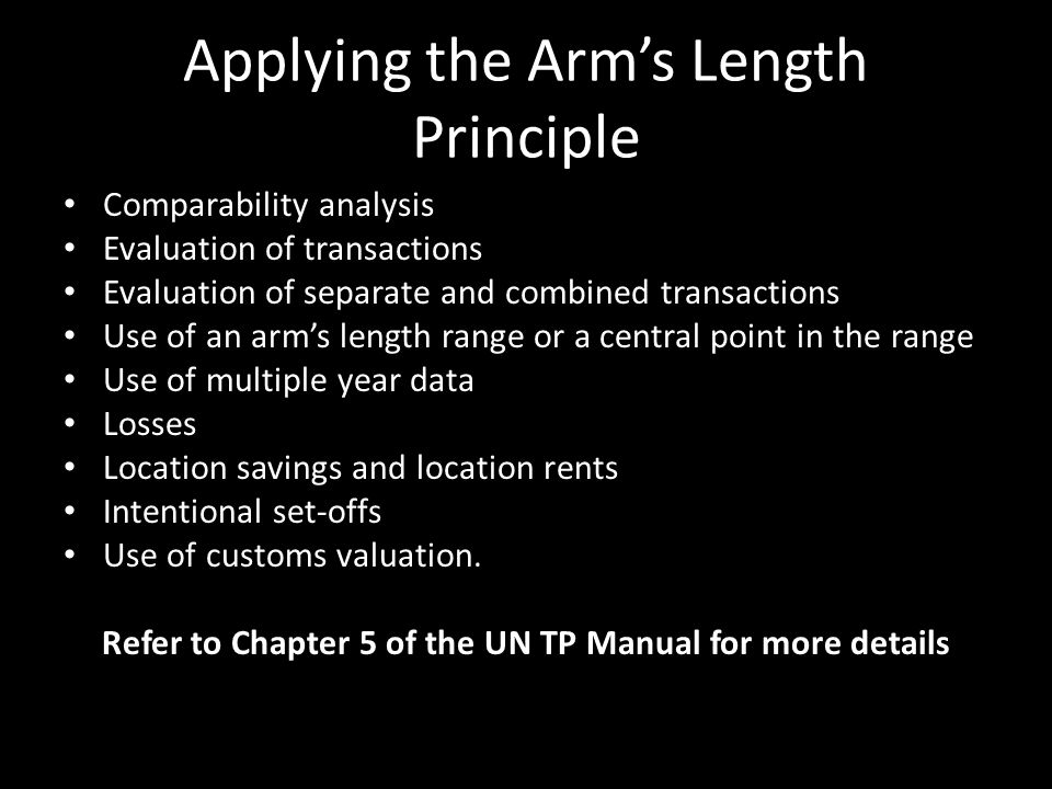 Applying the Arm's Length Principle